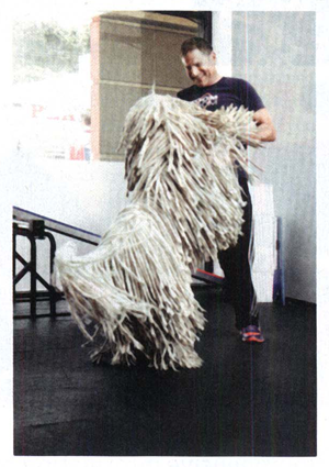 Mark Van Wye I credit Clyde -- my enormous, shaggy white Komondor -- for my current fitness! It was on daily walks with Clyde and my son, Meyer, that I came to wander in to The Studio (MDR) and become a member.